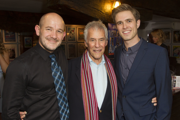 <p>Steven Hoggett (director), Burt Bacharach (music) and Kyle Riabko (cast)</p><br />© Dan Wooller for WhatsOnStage