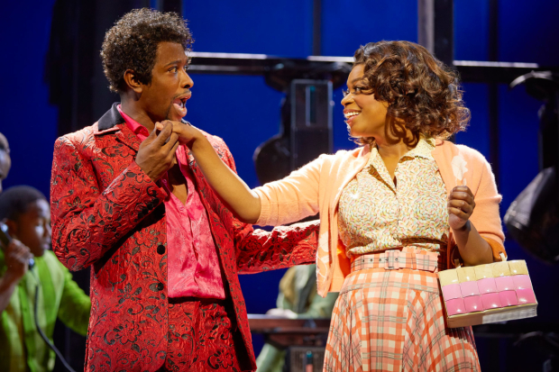 <p>Adam J. Bernard and Ibinabo Jack in <em>Dreamgirls</em></p><br />© Brinkhoff - Moegenburg