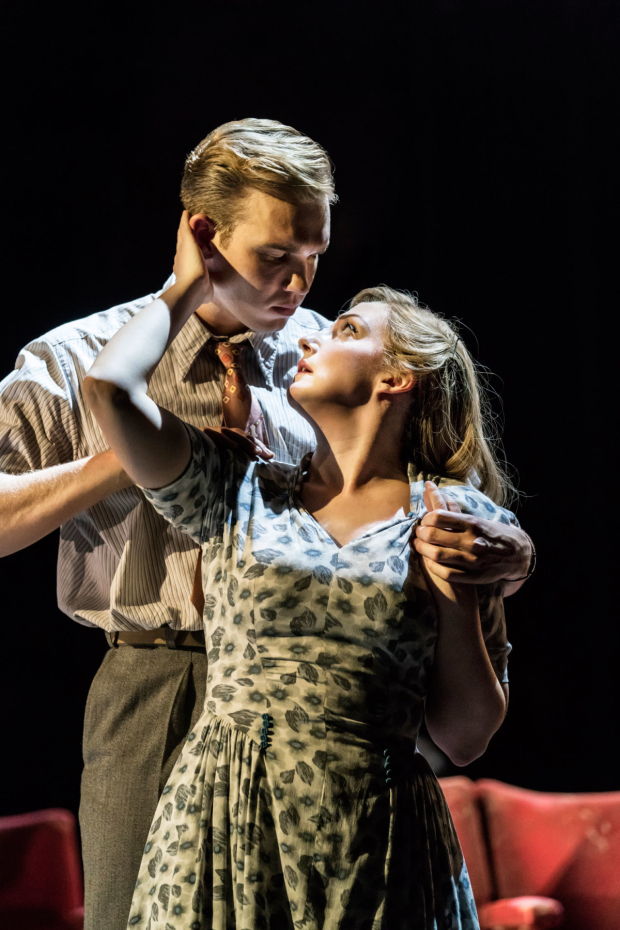<p>Adam Rhys-Charles as Young Ben and Alex Young as Young Sally in <em>Follies</em> at the National Theatre</p><br />© Johan Persson