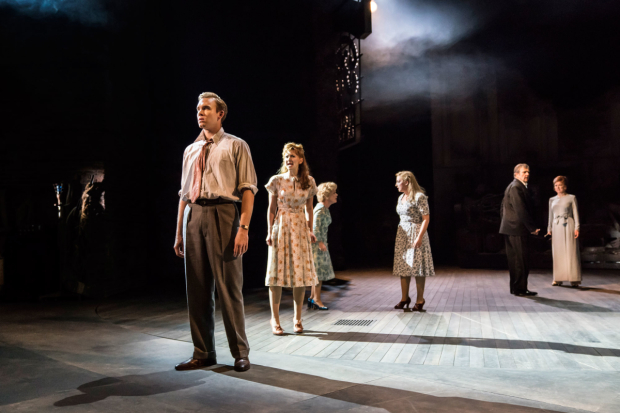<p>Adam Rhys-Charles as Young Ben, Zizi Strallen as Young Phyllis, Imelda Staunton as Sally, Alex Young as Young Sally, Philip Quast as Ben and Janie Dee as Phyllis  in <em>Follies</em> at the National Theatre</p><br />© Johan Persson