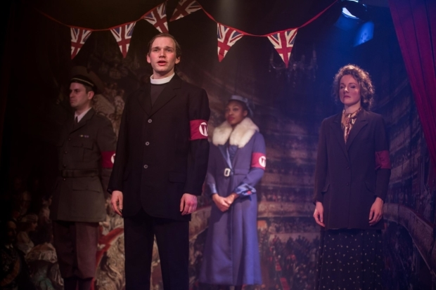 <p>Adam Sopp, Edmund Digby Jones, Rujenne Green and Eva Feiler in <em>The Dog Beneath the Skin</em></p><br />© S R Taylor Photography