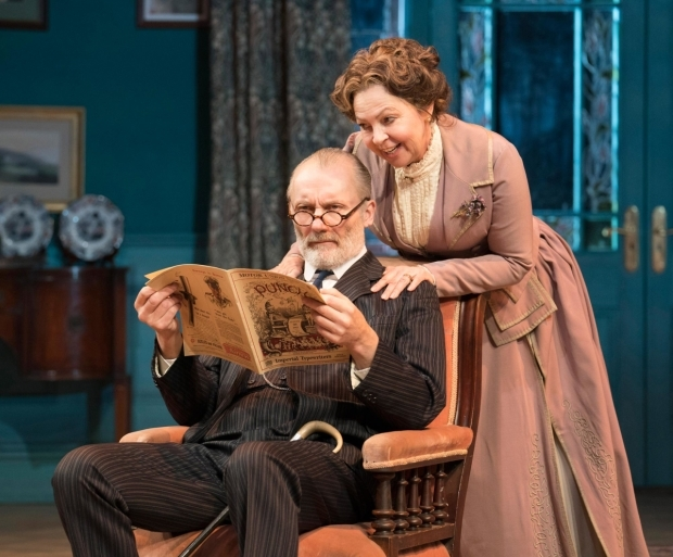 <p>Aden Gillett  as Arthur Winslow and Tessa Peake-Jones as Grace Winslow  in <em>The Winslow Boy</em></p><br />© Alastair Muir