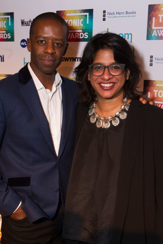 <p>Adrian Lester and Indhu Rubasingham</p><br />© Dan Wooller for WhatsOnStage