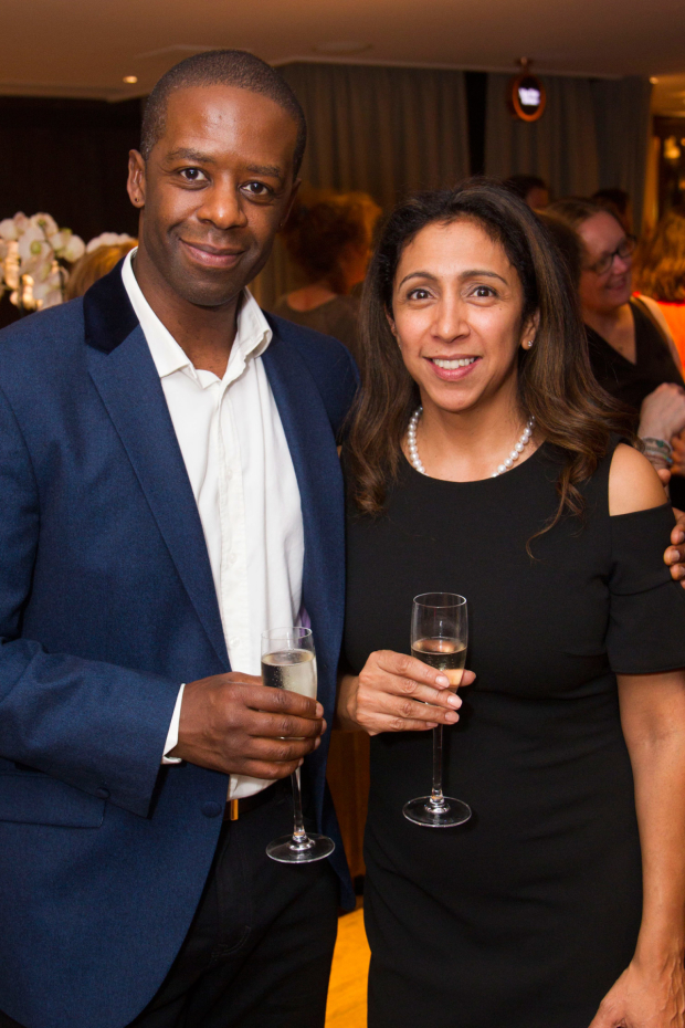 <p>Adrian Lester and Sita McIntosh</p><br />© Dan Wooller for WhatsOnStage