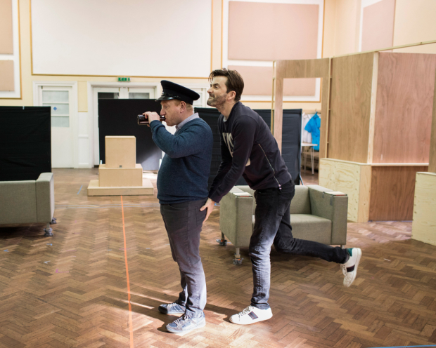 <p>Adrian Scarborough and David Tennant</p><br />© Helen Maybanks