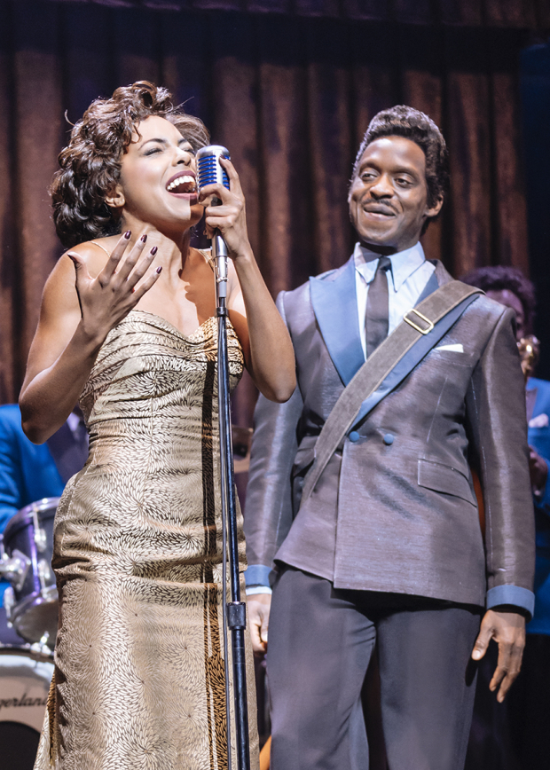 <p>Adrienne Warren (Tina Turner) and Kobna Holdbrook-Smith (Ike Turner)</p><br />© Manuel Harlan