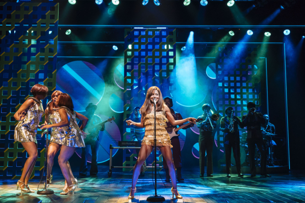 <p>Adrienne Warren (Tina Turner) and the company of <em>Tina the Musical</em></p><br />© Manuel Harlan