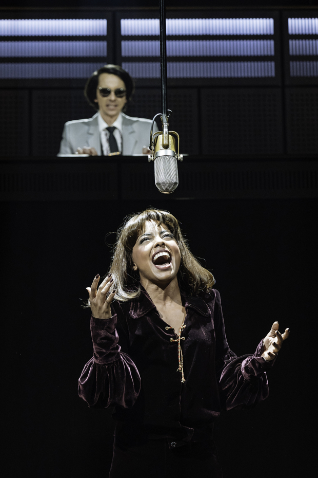 <p>Adrienne Warren (Tina Turner) and Tom Godwin (Phil Spector)</p><br />© Manuel Harlan