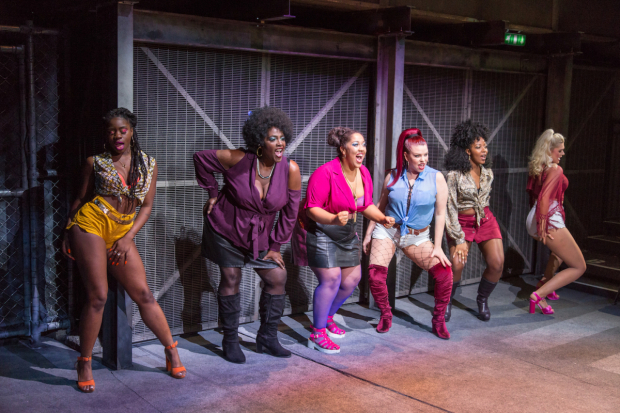 <p>Aisha Jawando (Carmen), Sharon D Clarke (Sonja), Jalisa Andrews (ChiChi), Lucinda Shaw (Tracy), T&#39&#x3B;Shan Williams (Queen) and Charlotte Reavey (April) in <em>The Life</em></p><br />© Conrad Blakemore
