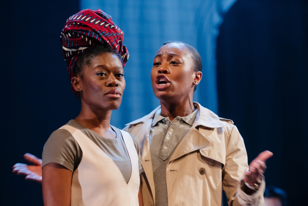 <p>Akiya Henry (Medea, Maddy) and Stephanie Levi-John (Jack, Jason)</p><br />© Jack Offord