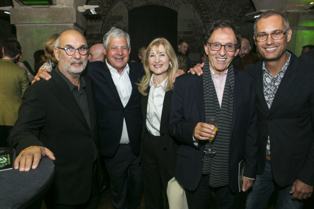 <p>Alan Yentob, Cameron Mackintosh, Shirley Black, Don Black and Michael le Poer Trench</p><br />© Dan Wooller