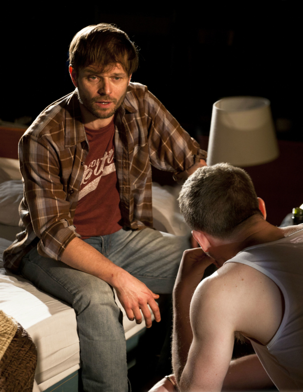 <p>Alec Newman and James Norton   in <em>Bug</em></p><br />© Simon Annand