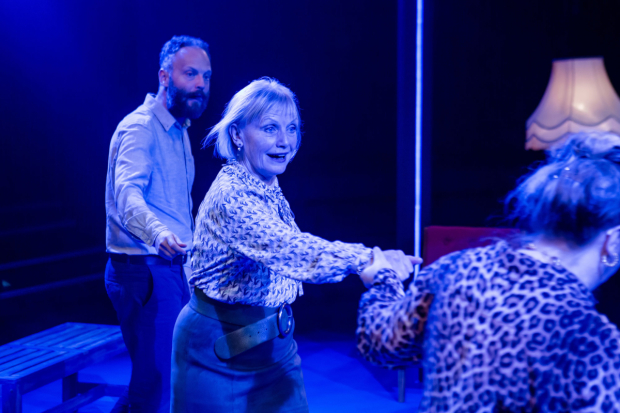 <p>Alex Beckett, Amelda Brown and Amanda Boxer in <em>Blue Heart</em></p><br />©The Other Richard 2016