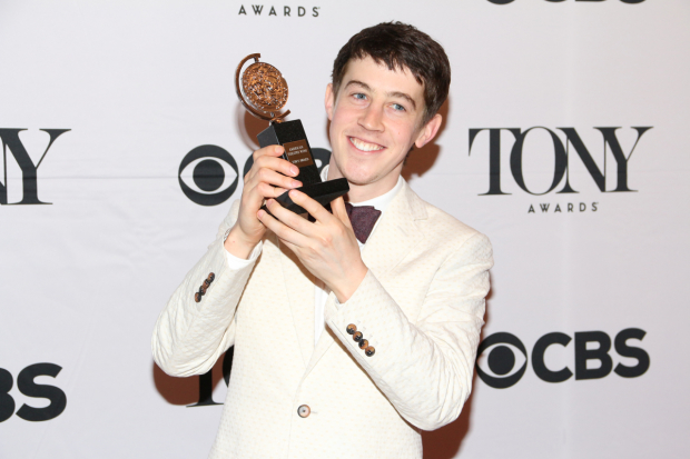 <p>Alex Sharp (<em>Curious Incident</em>)</p><br />David Gordon
