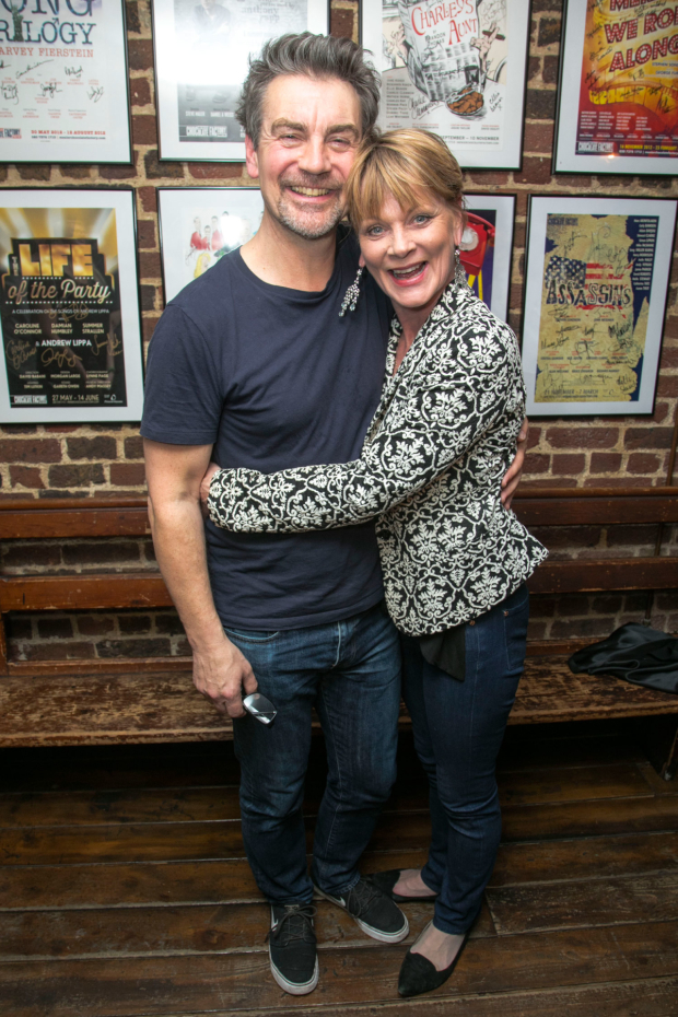 <p>Alexander Hanson (Paul) and Samantha Bond (Alice)</p><br />© Dan Wooller for WhatsOnStage