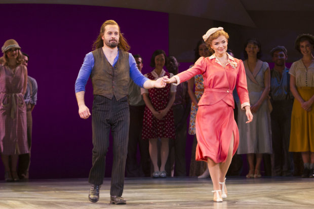 <p>Alfie Boe (Billy Bigelow) and Katherine Jenkins (Julie Jordan)</p><br />© Dan Wooller for WhatsOnStage