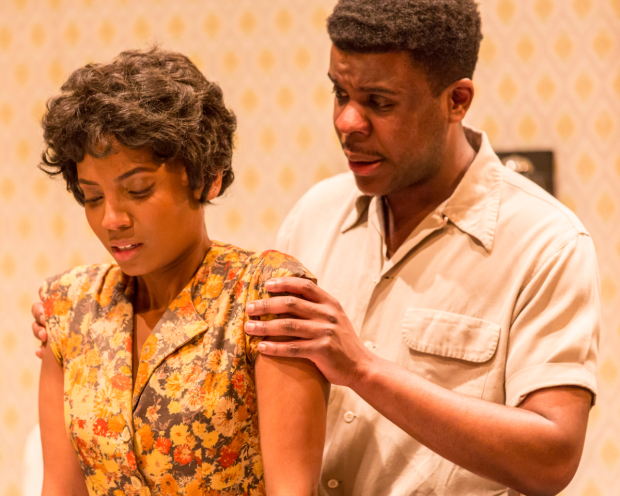 <p>Alisha Bailey (Ruth Younger) and Ashley Zhangazha (Walter Lee Younger) in <em>A Raisin in the Sun</em></p><br />© JOHAN PERSSON