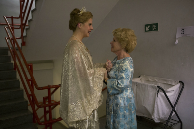 <p>Alison Langer (l) who plays young Heidi and Imelda Staunton (r) who plays Sally Durrant backstage</p><br />(c) Ellie Kurttz
