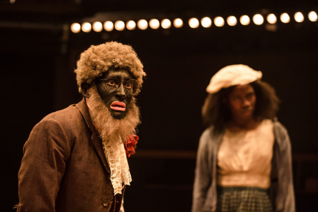 <p>Alistair Toovey and Vivian Oparah in <em>An Octoroon</em> </p><br />©The Other Richard