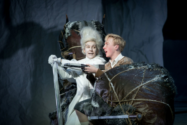 <p>Allison McKenzie (White Witch) and JameThackerey (Edmund) in <em>The Lion, The Witch and the Wardrobe</em></p><br />(c) Graeme Braidwood