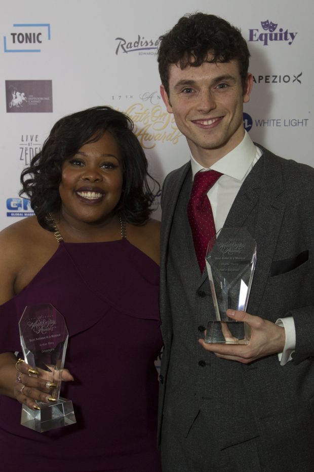 <p>Amber Riley and Charlie Stemp</p><br />© Dan Wooller for WhatsOnStage