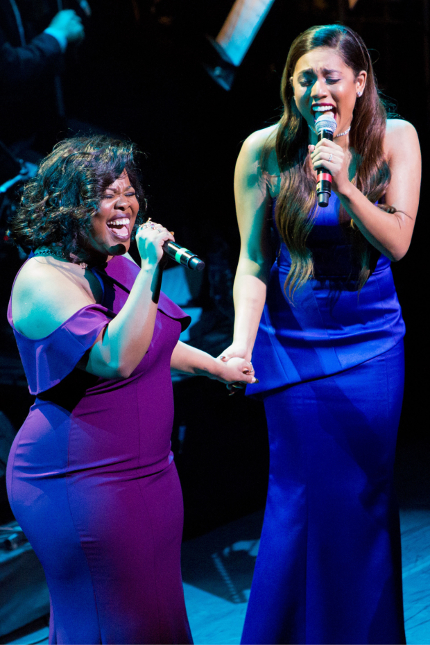 <p>Amber Riley and Liisi LaFontaine</p><br />© Peter Gibbons