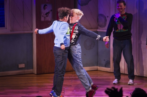 <p>Amir Wilson (Nigel) and Connor Davies (Barry)</p><br />©Dan Wooller for WhatsOnStage