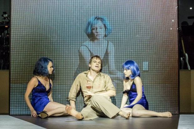 <p>Amy Lennox (Elly), Michael C Hall (Newton) and Sophia Anne Caruso (Girl)</p><br />© Johan Persson