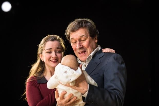 <p>Amy Molloy (Julie) and Stephen Rea (Eric Miller) in <em>Cyprus Avenue</em></p><br />© Helen Murray