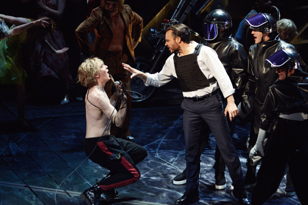 <p>Andrew Polec as Strat and Rob Fowler as Falco in <em>Bat Out Of Hell</em></p><br />© Jim Ross
