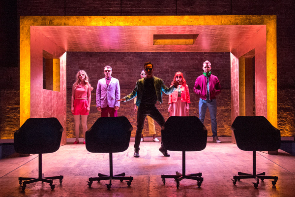 <p>Andrew Scott (Paul) in front. Behind: Yolanda Kettle, Daniel Cerqueira, Nikki Amuka-Bird, Charlotte Randle and Alex Price (Johnny)</p><br />© Richard Hubert Smith