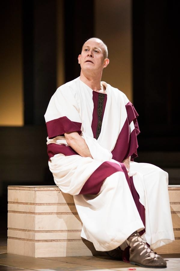 <p>Andrew Woodall as Julius Caesar</p><br />© Helen Maybanks