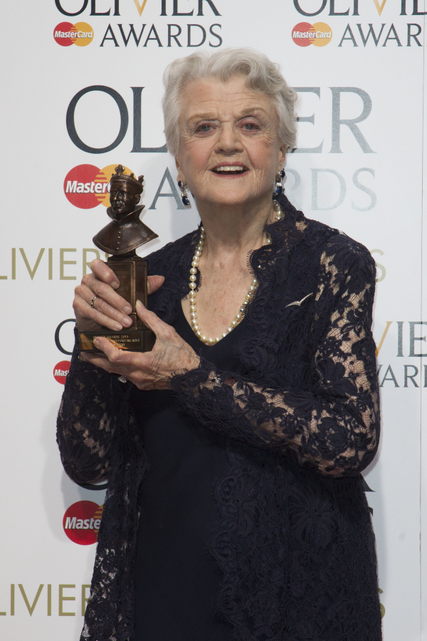 <p>Angela Lansbury with her first ever Olivier, for Best Supporting Actress in a Play for <em>Blithe Spirit</em></p><br />© Dan Wooller
