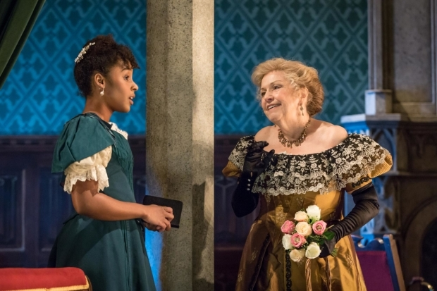 <p>Anne Reid as Lady Hunstanton with Crystal Clarke as Hester Worsley in <em>A Woman of No Importance</em></p><br />© Marc Brenner