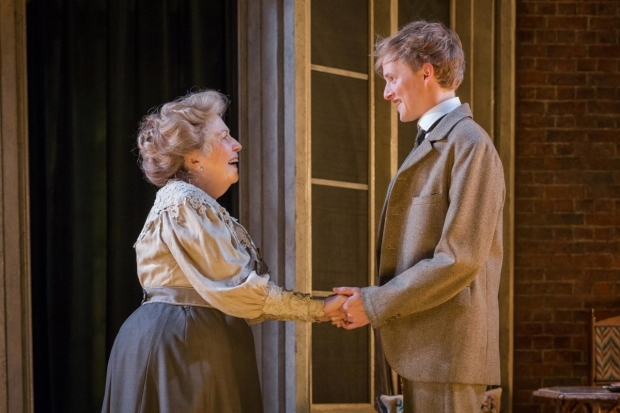 <p>Anne Reid as Lady Hunstanton with Harry Lister Smith as Gerald Arbuthnot in <em>A Woman of No Importance</em></p><br />© Marc Brenner