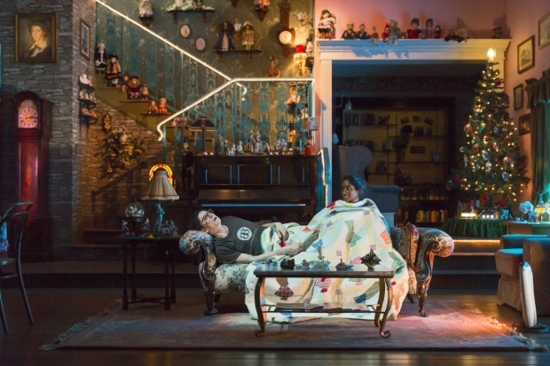 <p>Anneika Rose as Jenny and Tom Mothersdale as Elias </p><br />© Stephen Cummiskey