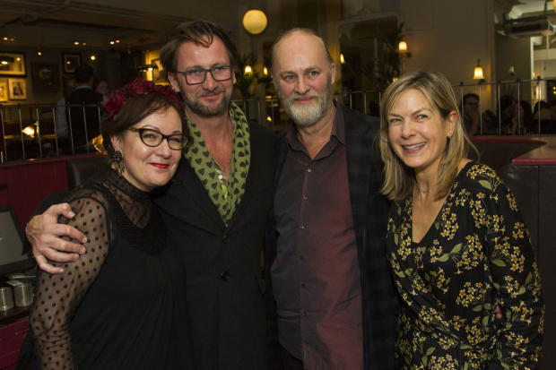 <p>Annie Gosney, Vince Leigh, Tim McInnerny and Penny Smith</p><br />© Dan Wooller for WhatsOnStage