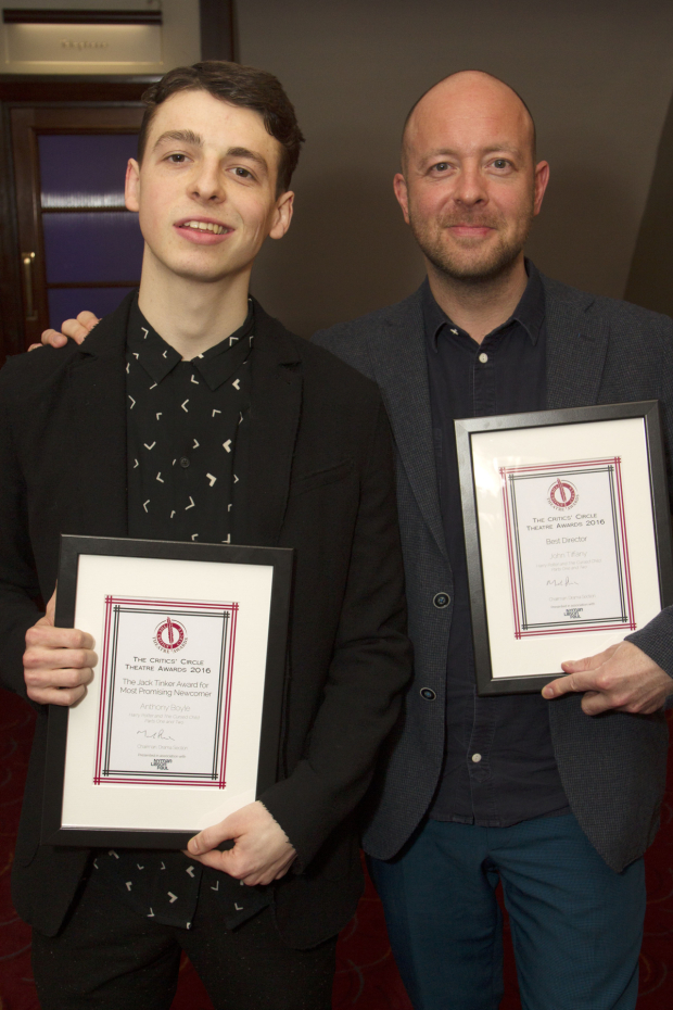 <p>Anthony Boyle and John Tiffany</p><br />© Dan Wooller for WhatsOnStage