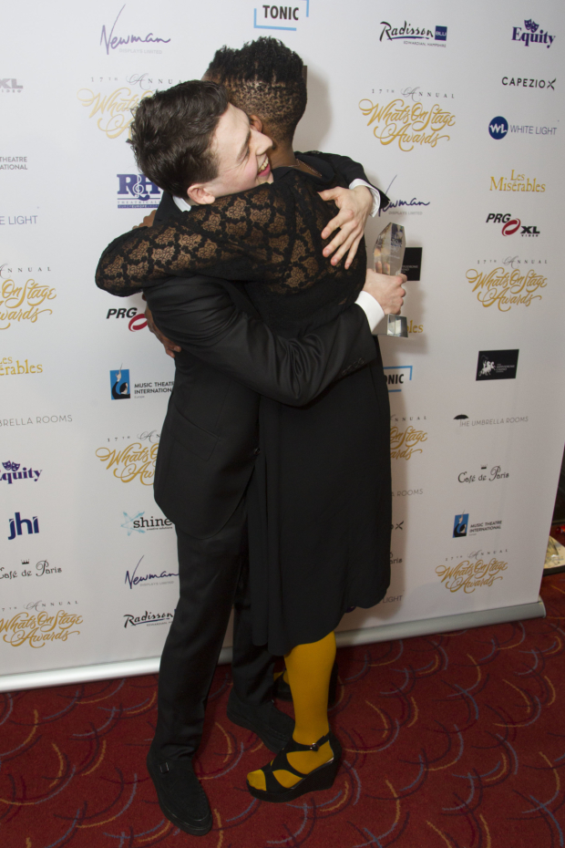 <p>Anthony Boyle and Noma Dumezweni</p><br />© Dan Wooller for WhatsOnStage