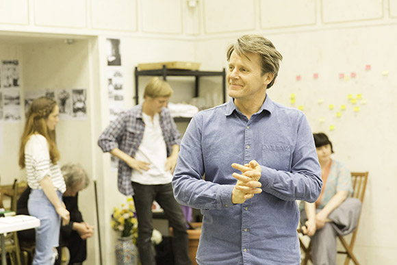 <p>Anthony Calf in rehearsal for <em>Fathers and Sons</em></p><br />© Johan Persson
