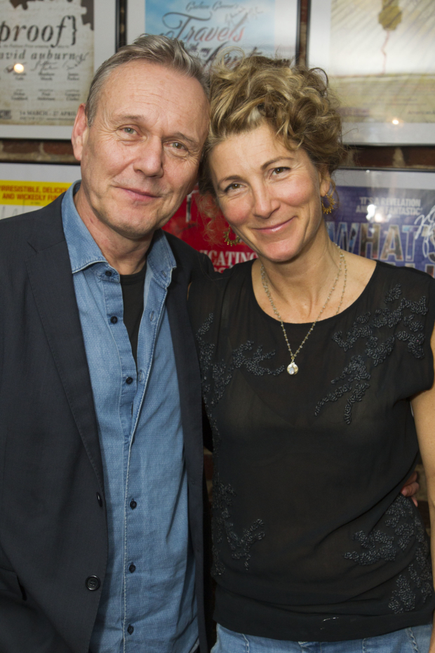 <p>Anthony Head (Sir John Fletcher) and Eve Best (Olivia Brown)</p><br />© Dan Wooller for WhatsOnStage
