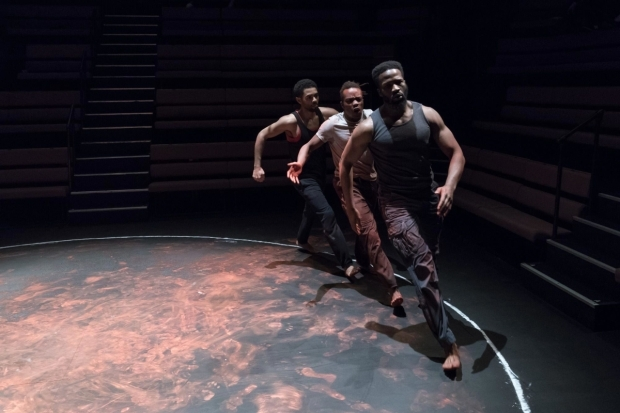 <p>Anthony Welsh, Jonathan Ajayi and Sope Dirisu in <em>The Brothers Size</em></p><br />©  Marc Brenner