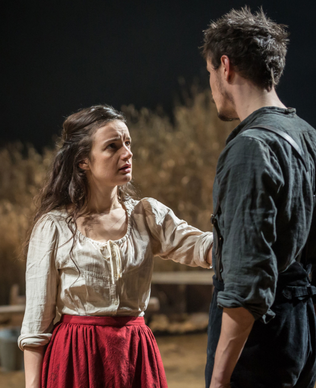 <p>Aoife Duffin (Abbie Putnam) and Michael Shea (Eben) in <em>Desire Under the Elms</em></p><br />© Marc Brenner
