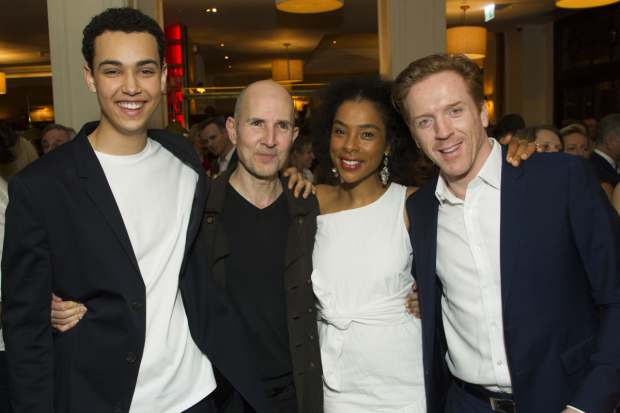 <p>Archie Madekwe (Billy), Ian Rickson (director), Sophie Okonedo (Stevie) and Damian Lewis (Martin)</p><br />© Dan Wooller for WhatsOnStage