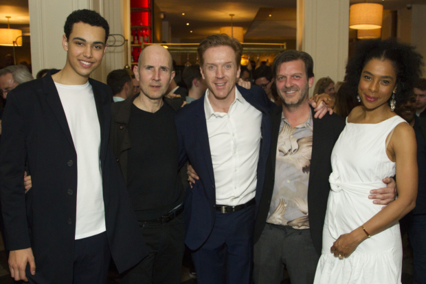 <p>Archie Madekwe (Billy), Ian Rickson (director),Damian Lewis (Martin), Jason Hughes (Ross) and Sophie Okonedo (Stevie)</p><br />© Dan Wooller for WhatsOnStage