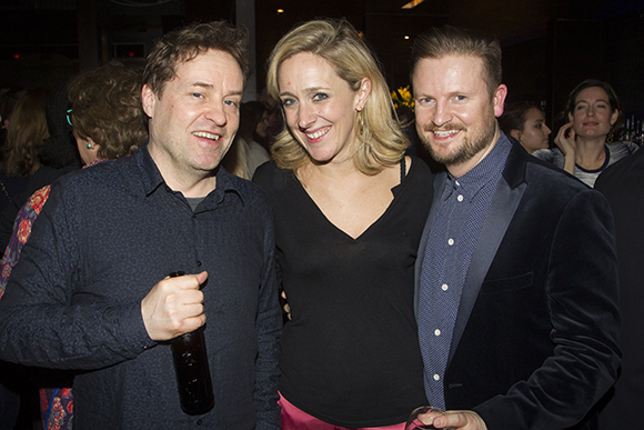 <p>Ardal O&#39&#x3B;Hanlon, Kate Pakenham and Alastair Coomer</p><br />Dan Wooller for WhatsOnStage