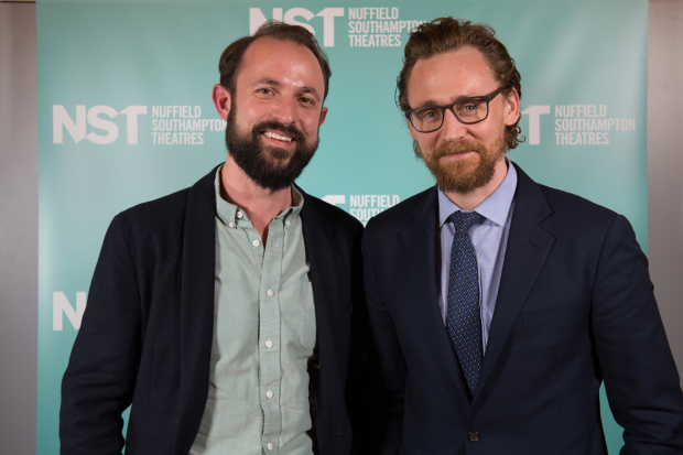 <p>Artist director Sam Hodges and Tom Hiddleston</p><br />© Upix Photography