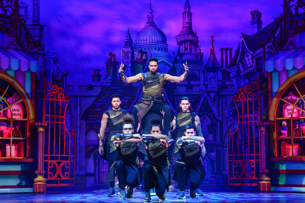 <p>Ashley Banjo and Diversity as The Sultan and His Advisors</p><br />© Paul Coltas