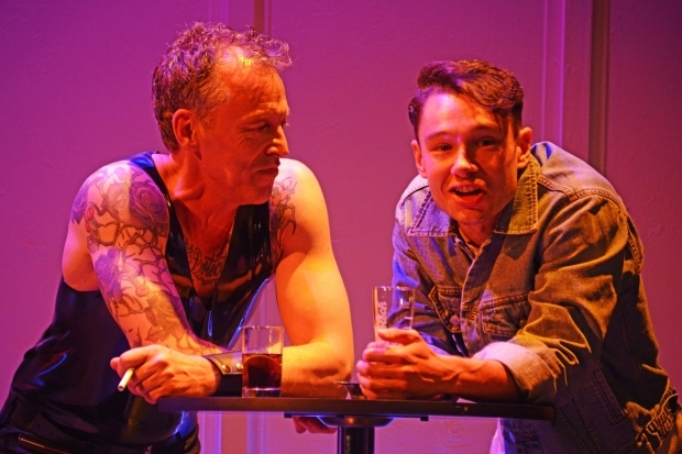 <p>Ashley Russell and Andrew Fraserin in <em>Racing Demon</em></p><br />© Nobby Clark
