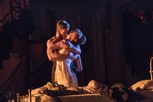<p>Ashley Shaw as Cinderella and Andrew Monaghan as Harry</p><br />© Johan Persson